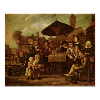 Quack Alber on the market by Victors in January Print
