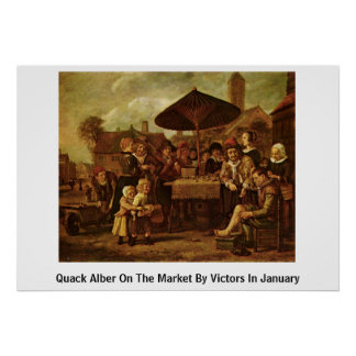 Quack Alber On The Market By Victors In January Poster