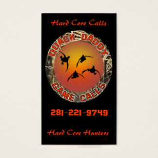 Quack Daddy Game Calls Business Card