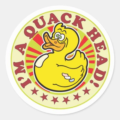 Quack Head Stickers