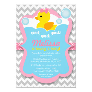 Rubber Ducky Invitations Announcements Zazzle