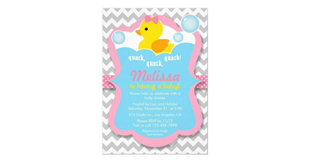 Rubber Ducky Baby Shower Invitations & Announcements | Zazzle