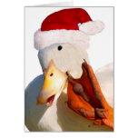 Quack Santa Claus Card