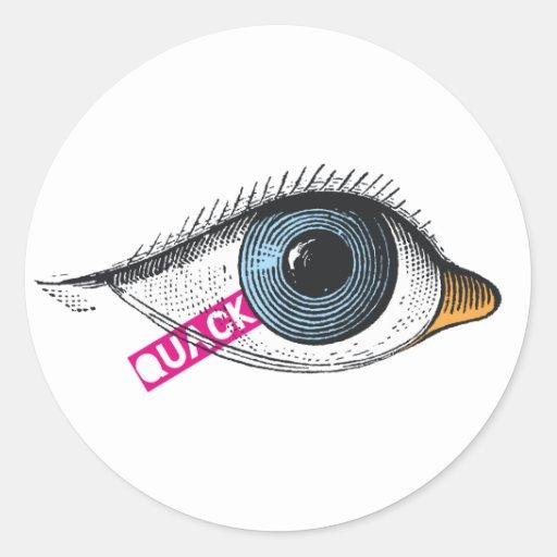 Quack white sticker