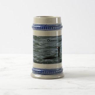 Quacker in the ocean coffee mug