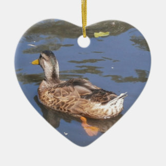 Quackers on the Bill Ceramic Ornament