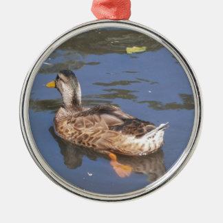 Quackers on the Bill Metal Ornament