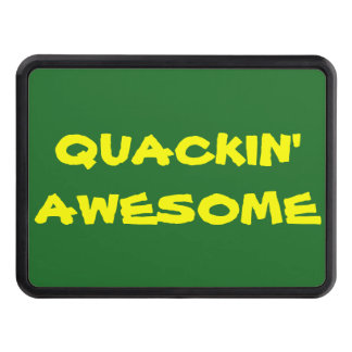 Quackin' Awesome (Islander Font) Hitch Cover