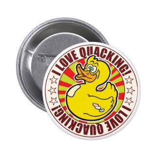 Quacking Duck 2 Inch Round Button