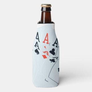Quad_Aces_Cards_Pattern,_Stubby_Cooler_Holder Bottle Cooler