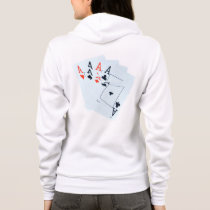 Quad Aces Poker Cards Pattern, Hoodie