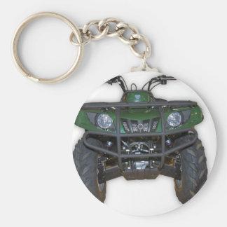 quad bike - atv basic round button keychain