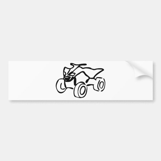 quad bike icon bumper sticker