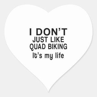 QUAD BIKING IS MY LIFE HEART STICKER
