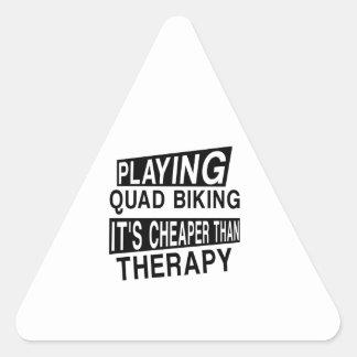 QUAD BIKING It Is Cheaper Than Therapy Triangle Sticker