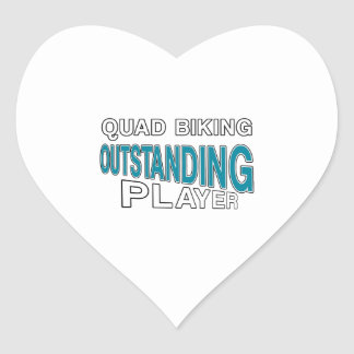 QUAD BIKING OUTSTANDING PLAYER HEART STICKER