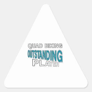QUAD BIKING OUTSTANDING PLAYER TRIANGLE STICKER