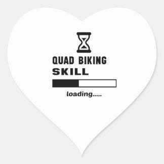 Quad Biking skill Loading...... Heart Sticker