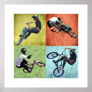 Quad BMX, Copyright Karen J Williams Poster