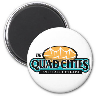 Quad Cities Marathon 2 Inch Round Magnet