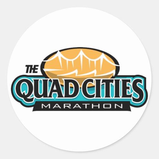 Quad Cities Marathon Classic Round Sticker