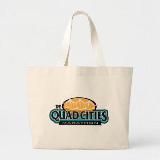 Quad Cities Marathon Large Tote Bag
