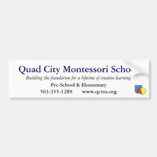 Quad City Montessori School Bumper Sticker