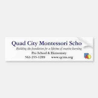 Quad City Montessori School Bumper Sticker Car Bumper Sticker