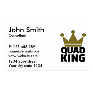 Quad king business card