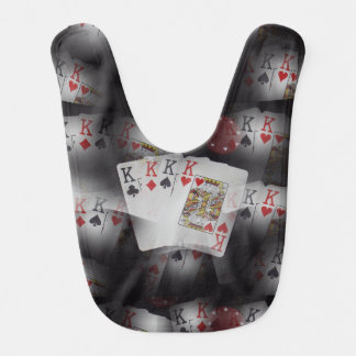 Quad Kings In A Layered Pattern, Baby Bib