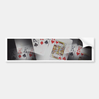 Quad Kings Poker Cards Pattern, Bumper Sticker