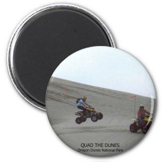Quad The Dunes Oregon Coast Sand Fun 4 Wheel 2 Inch Round Magnet