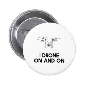 Quadcopter del abejón I sin cesar Pin Redondo De 2 Pulgadas