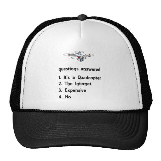 quadcopter drone questions answered trucker hat