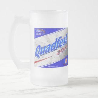 "Quadfest 2011 Frosted Glass Mug ""Beer Box"" Logo"