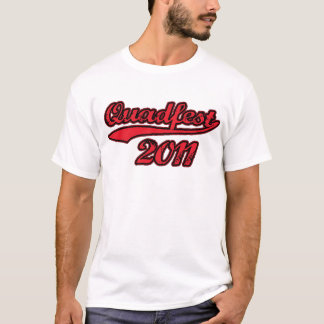 Quadfest 2012 Hi-Q Light T — Baseball Swoosh Logo T-Shirt