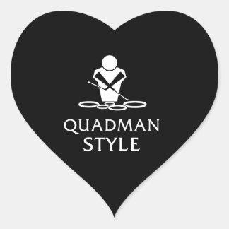 QUADMAN STYLE HEART STICKER