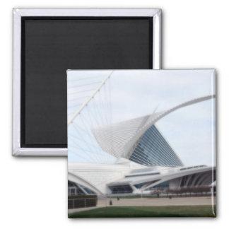 Quadracci Pavilion (The Milwaukee Art Museum) 2 Inch Square Magnet