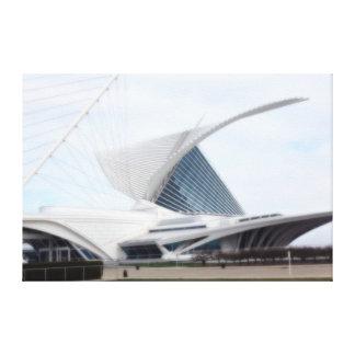 "Quadracci Pavilion  ""The Milwaukee Art Museum"" Canvas Print"
