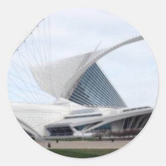 Quadracci Pavilion (The Milwaukee Art Museum) Classic Round Sticker