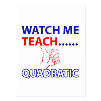 QUADRATIC equation design Postcard
