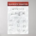"""Quadratic Equation - Math Poster<br><div class=""""desc"""">Quadratic Equation</div>"""