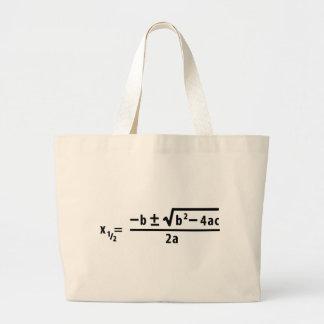 quadratic formula jumbo tote bag