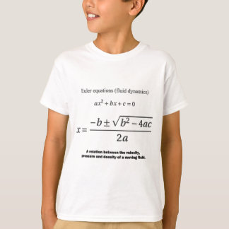 quadratic formula: Euler: mathematics T-Shirt