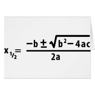 quadratic formula greeting card