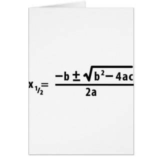quadratic formula greeting cards