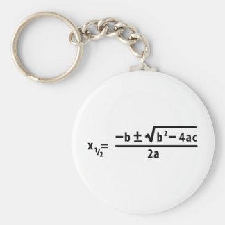 quadratic formula keychain