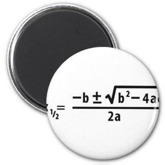 quadratic formula 2 inch round magnet