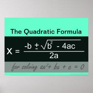 Quadratic Formula Math Poster
