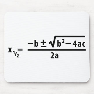 quadratic formula mouse pad